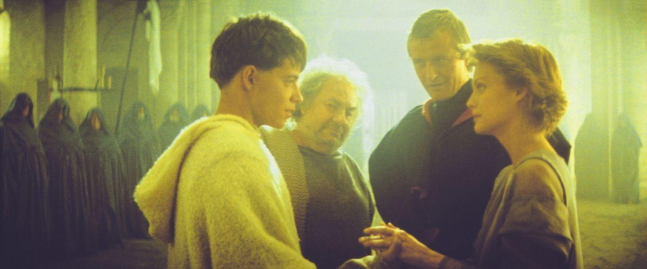 Navarre (Rutger Hauer, 2.v.r.) und Isabeau (Michelle Pfeiffer, r.) bedanken sich bei dem Mönch Imperius (Leo McKern, 2.v.l.) und bei Phillipe (Matt... - Bildquelle: 20TH CENTURY FOX FILM CORP. INC