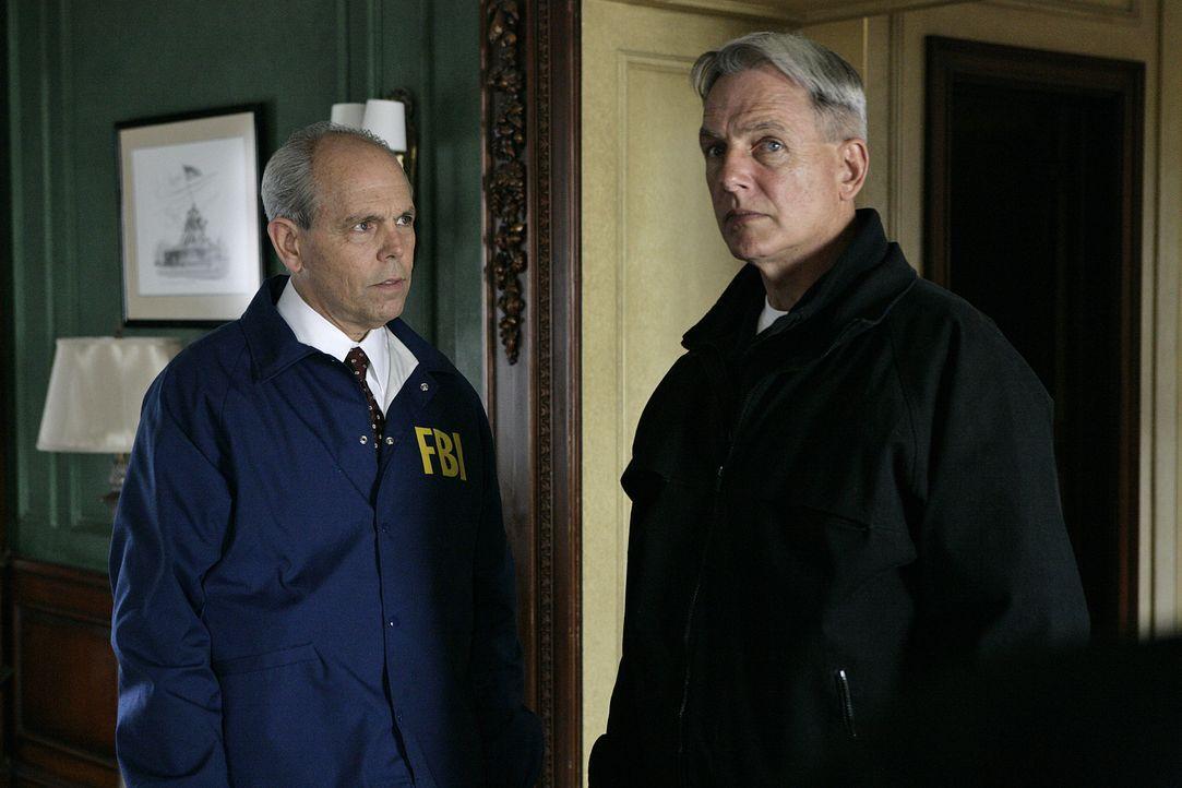 Arbeiten an einem neuen Fall: Gibbs (Mark Harmon, r.) und FBI Agent Tobias Fornell (Joe Spano, l.) ... - Bildquelle: CBS Television