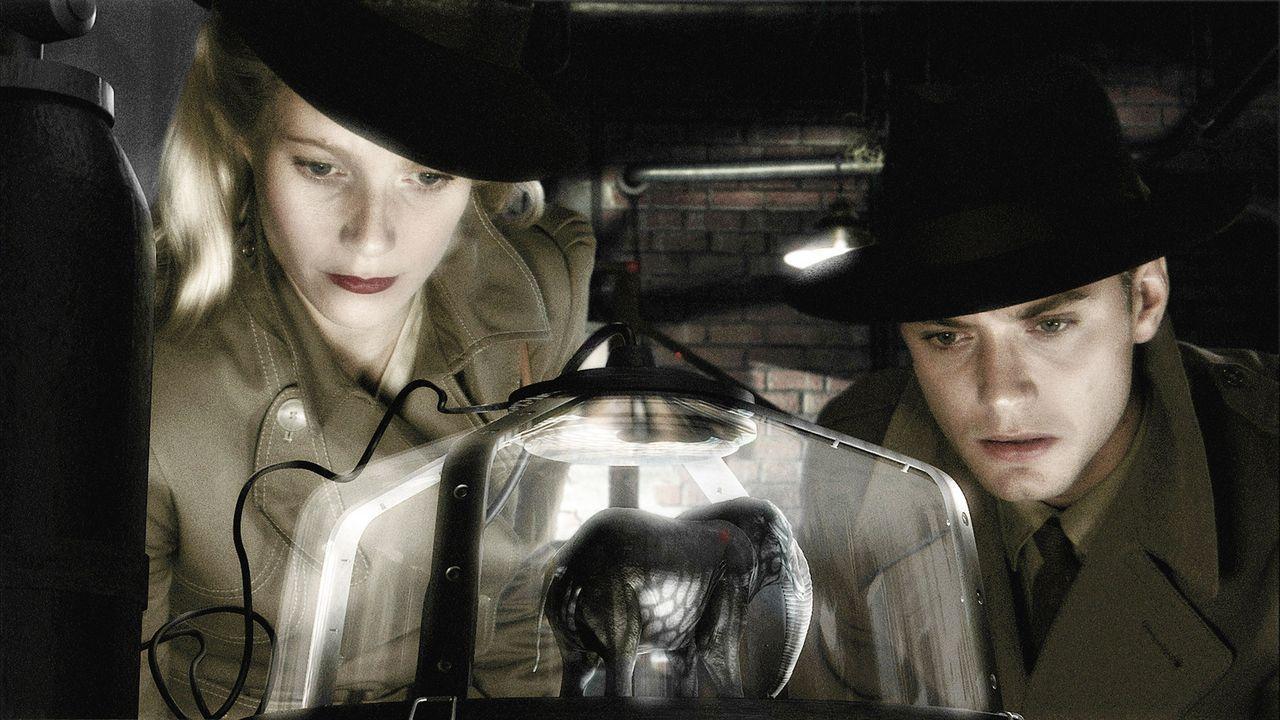 """Einzig ?Chronicle""""-Reporterin Polly Perkins (Gwyneth Paltrow, l.) und Flieger-As Joe ?Sky Captain"""" Sullivan (Jude Law, r.) können die Menschheit vo... - Bildquelle: TM & Copyright   Brooklyn Films II And Filmauro S.R.L."""