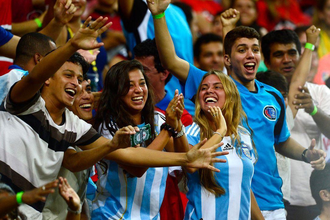 So feuert Argentinien an - Bildquelle: AFP