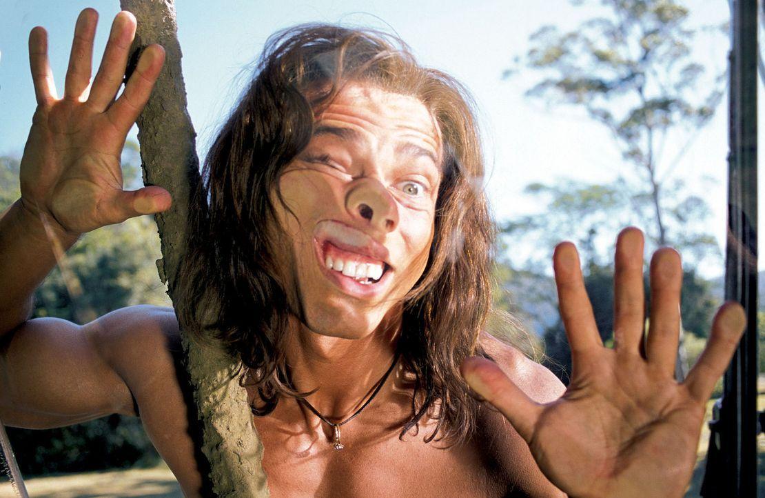 Fensterscheiben kennt George (Christopher Showerman) aus dem Dschungel natürlich nicht ... - Bildquelle: Walt Disney Pictures