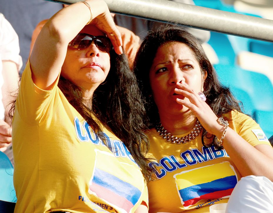 Die kolumbianischen Fans - 6 - Bildquelle: dpa