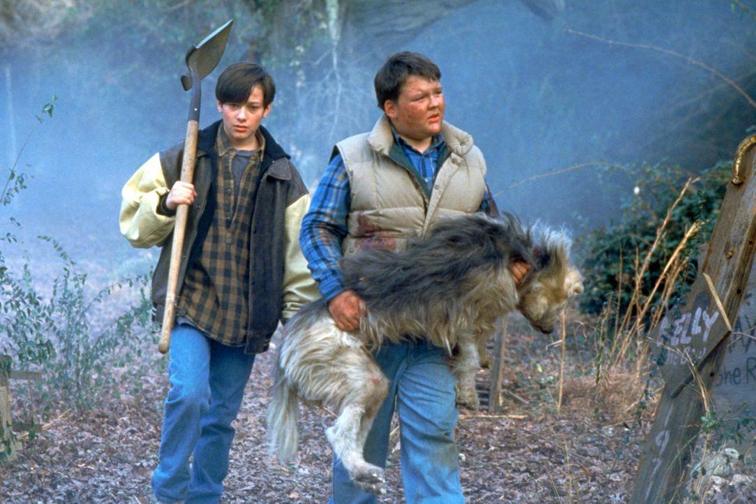 Jeff (Edward Furlong, l.) und sein Kumpel Drew (Jason McGuire, r.) wollen Drews Hund auf dem alten Indianerfriedhof begraben ... - Bildquelle: 2020 Paramount Pictures. All Rights Reserved.
