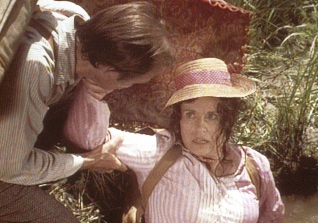 Der Ausflug erweist sich für Mr. Oleson (Richard Bull, l.) und Mrs. Oleson (Katherine McGregor, r.) anstrengender als erwartet. - Bildquelle: Worldvision