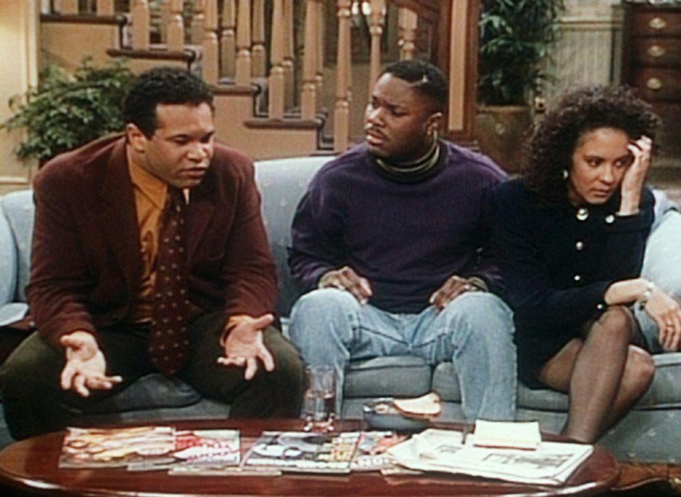Elvin (Geoffrey Owens, l.) und Sondra (Sabrina LeBeauf, r.) wollen, dass Theo (Malcolm-Jamal Warner, M.) im Falle ihres vorzeitigen Todes die Vormun... - Bildquelle: Viacom