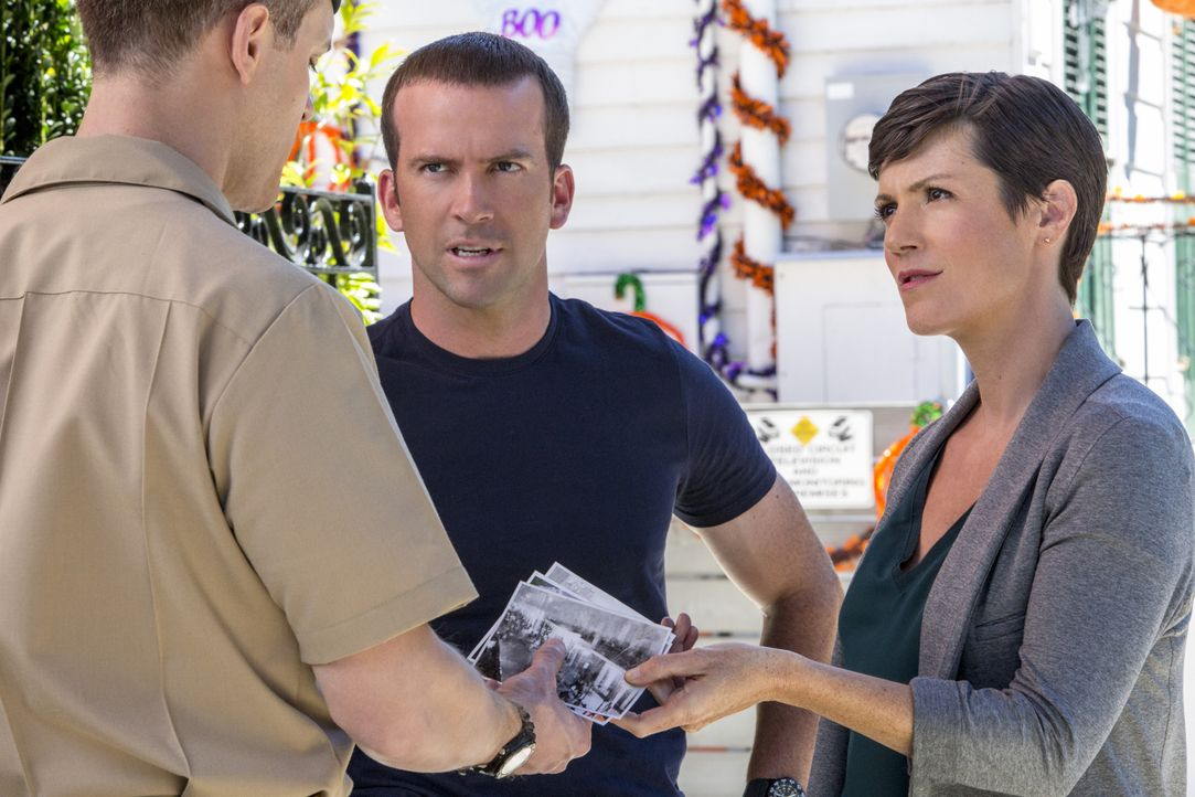 Brody (Zoe McLellan, r.) und Lasalle (Lucas Black, M.) ermitteln im Mord einer Marinerichterin. Kann Navy First Class Petty Officer Jake Dern (Aubre... - Bildquelle: 2014 CBS Broadcasting Inc. All Rights Reserved.