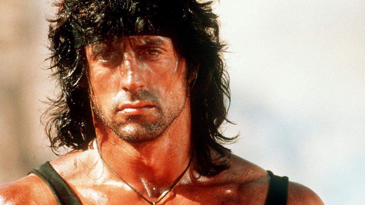 """Sylvester Stallone in """"Rambo 3"""" - Bildquelle: dpa"""