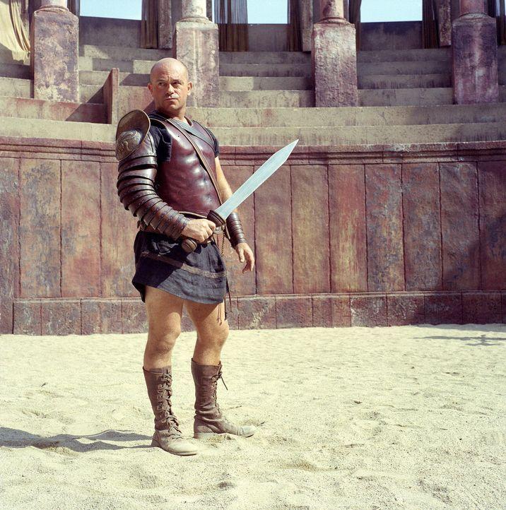 Der Gladiatoren-Lehrer Cinna (Ross Kemp) der Gladiatorenschule des Cornelius Batiatus kann auf die talentiertesten Kämpfer des Römischen Reiches z... - Bildquelle: USA Network Pictures