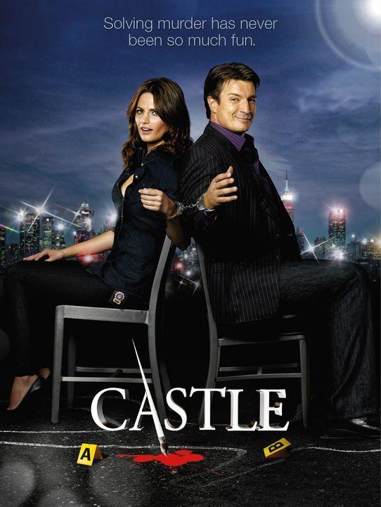 (3. Staffel) - Können weder mit noch ohne einander: Richard Castle (Nathan Fillion, r.) und Kate Beckett (Stana Katic, l.) - Bildquelle: ABC Studios