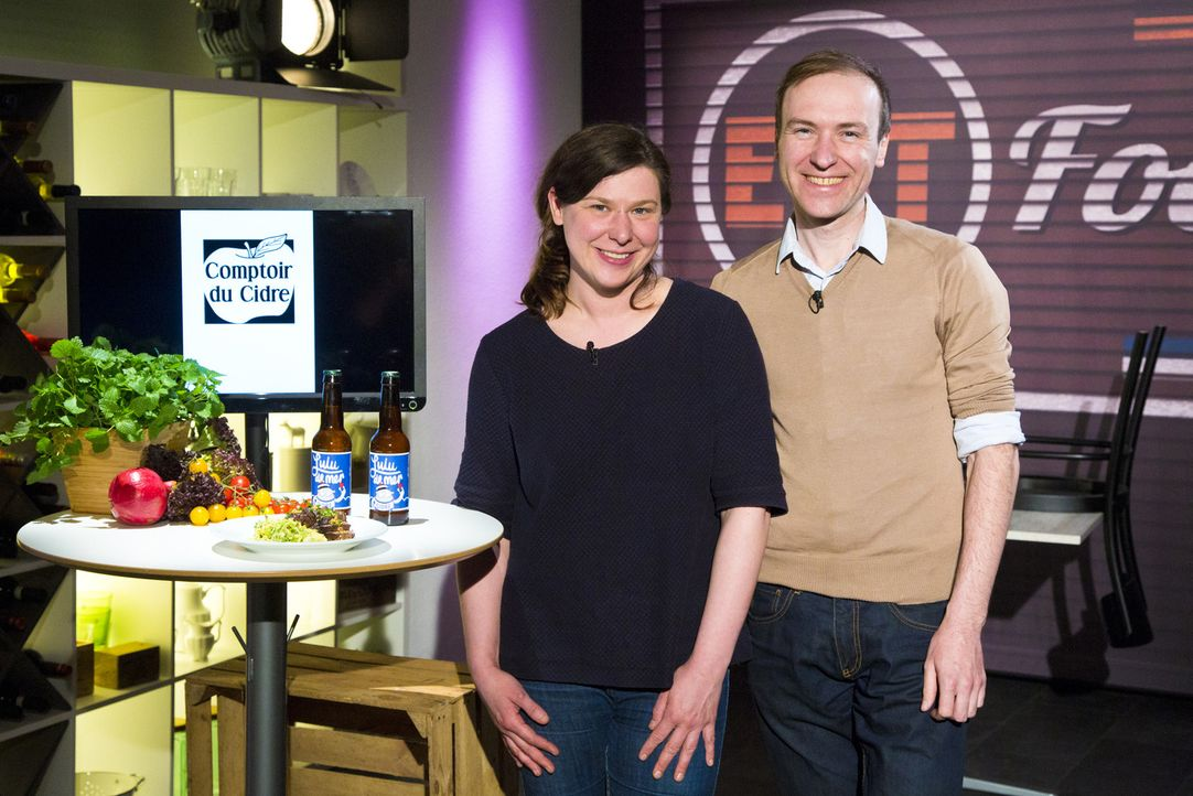 """Wollen mit """"Comptoir du Cidre"""" die Investoren überzeugen: Leila und Sidney Kristiansen ... - Bildquelle: kabel eins"""