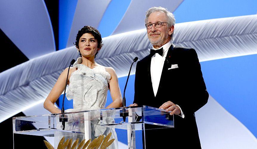 Audrey Tautou und Steven Spielberg - Bildquelle: AFP