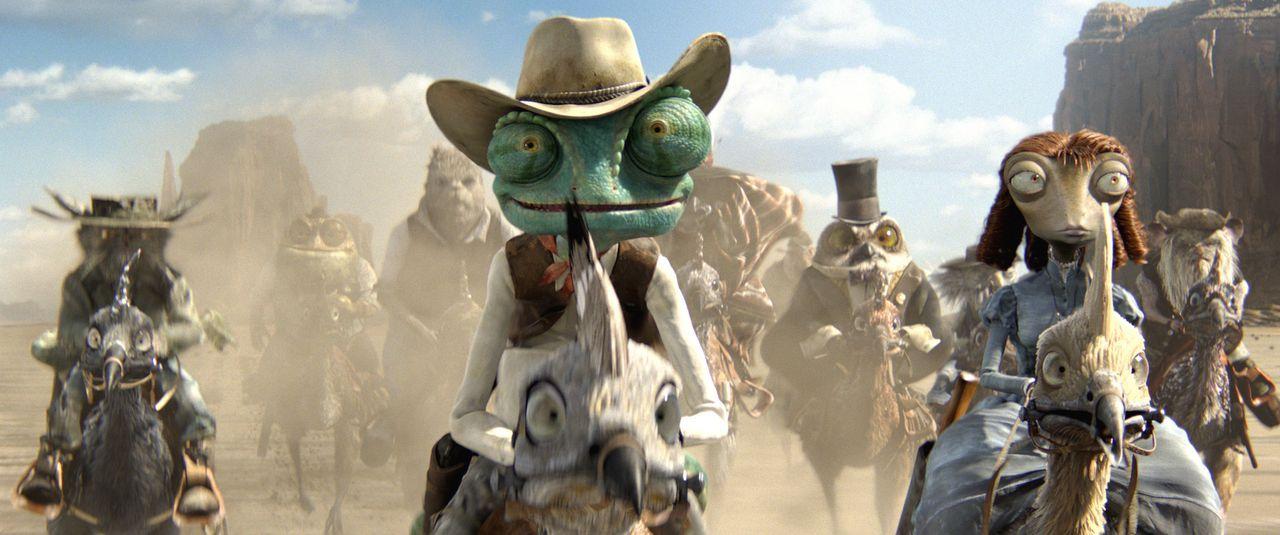 Erlebt ein ganz besonderes Abenteuer: Rango (M.) ... - Bildquelle: Paramount Pictures. All rights reserved.