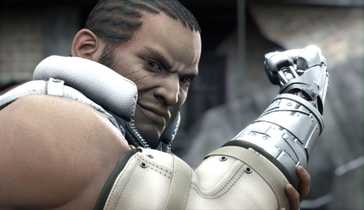 Obwohl ihn Cloud sehr vernachlässigt hat, hilft Barret ihm dennoch bei seiner äußerst heiklen und schwierigen Befreiungsaktion! - Bildquelle: 2005 Square Enix Co., LTD. All Rights Reserved.
