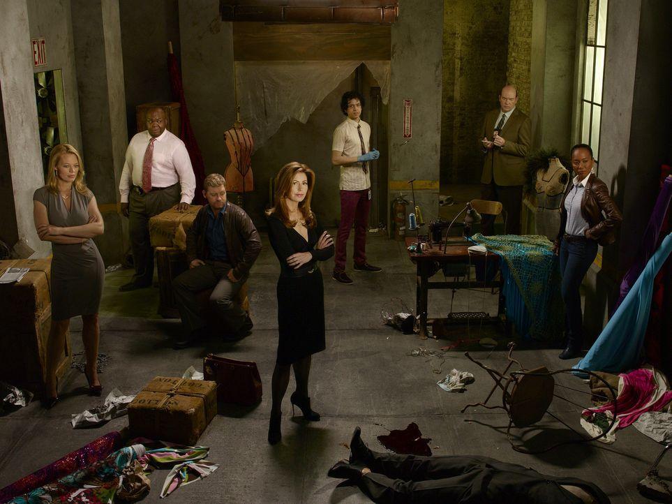 (2. Staffel) - Body of Proof: Ethan Gross (Geoffrey Arend, 3.v.r.), Curtis Brumfield (Windell D. Middlebrooks, 2.v.l.), Kate Murphy (Jeri Ryan, l.),... - Bildquelle: ABC Studios
