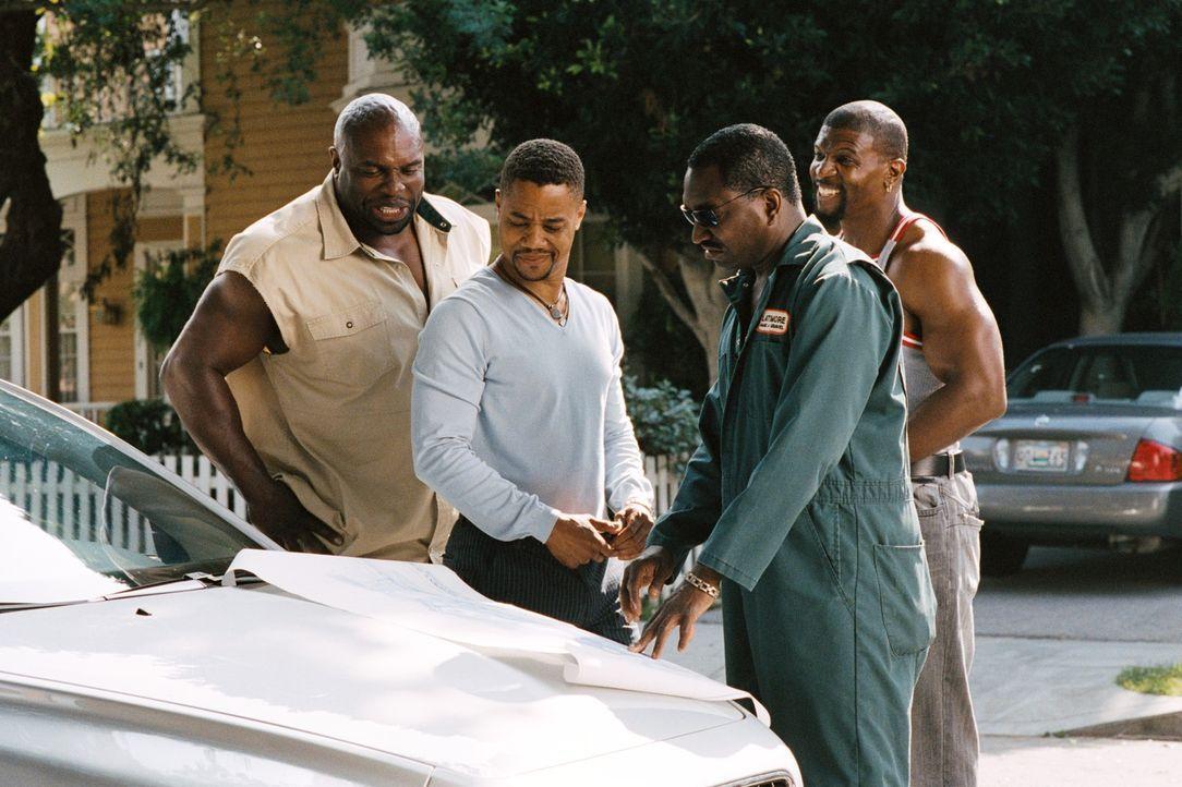Rasputias Brüder (v.l.nr. Terry Crews, Mighty Rasta, Clifton Powell) planen gemeinsam mit Kates Verlobten Deion Hughes (Cuba Jr. Gooding, 2v.l.) die... - Bildquelle: 2007 DREAMWORKS LLC. All Rights Reserved.