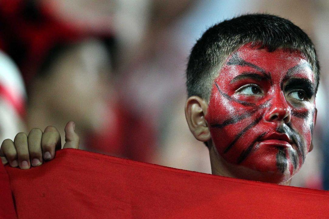 Fußball-Fan-Albanien-110902-dpa - Bildquelle: dpa