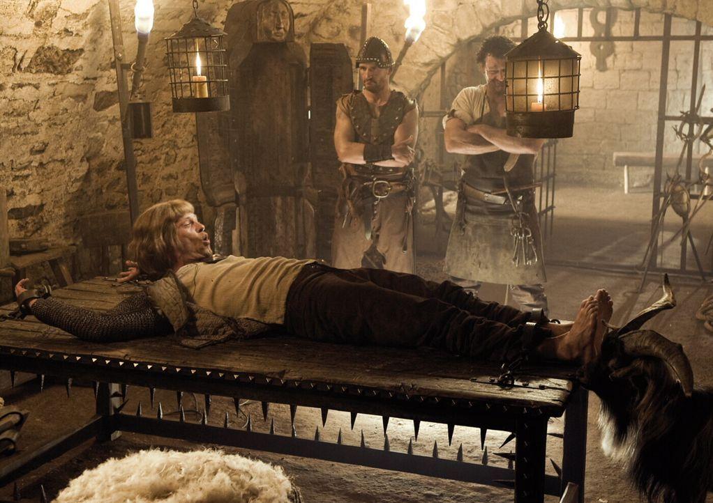 Auf der Suche nach der reizenden Herzelinde, muss der ehrenwerte Ritter Lanze (Til Schweiger, vorne) einiges über sich ergehen lassen ... - Bildquelle: Warner Brothers