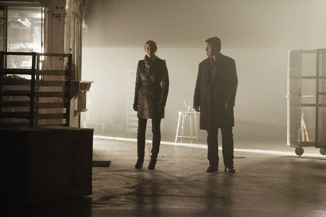 Ein neuer Mordfall wartet auf Kate Beckett (Stana Katic, l.) und Richard Castle (Nathan Fillion, r.) ... - Bildquelle: 2013 American Broadcasting Companies, Inc. All rights reserved.