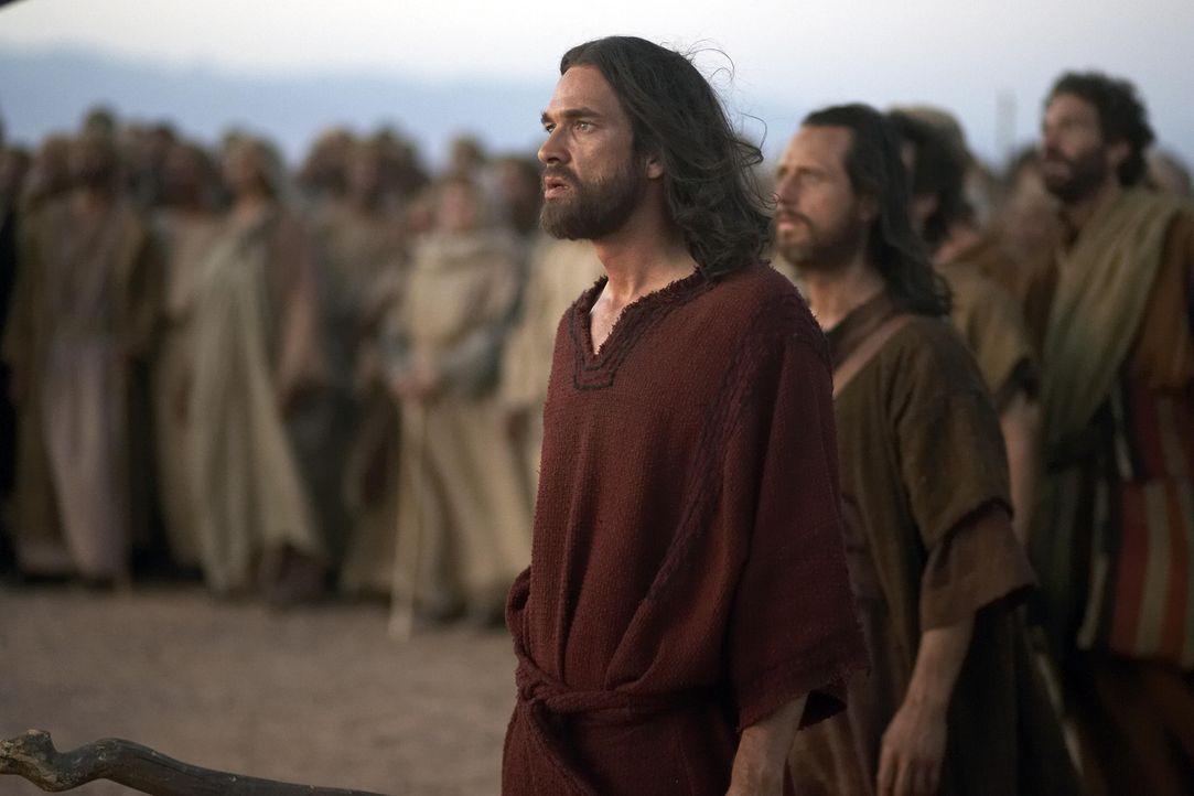 Mit den ehemaligen Sklaven der Ägypter, zieht Moses (Dougray Scott, vorne) durch die Wüste auf der Suche nach dem Gelobten Land ... - Bildquelle: Hallmark Entertainment