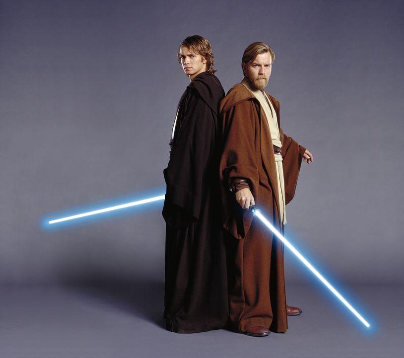 Wird der junge Jedi Anakin (Hayden Christensen, l.) seinem ehemaligen Mentor Obi-Wan Kenobi (Ewan McGregor, r.) tatsächlich den Rücken kehren und zu... - Bildquelle: Lucasfilm Ltd. & TM. All Rights Reserved.