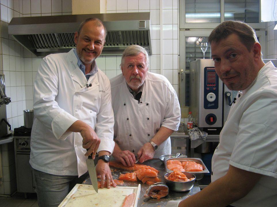 """Gemeinsam wollen sie im niedersächsischen Osterholz-Scharmbeck das Fischlokal """"Amtslinde"""" wieder zum Laufen bringen: Frank Rosin (l.), Koch Harald S... - Bildquelle: kabel eins"""