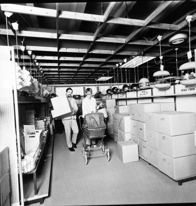IKEA Kungens Kurva Beleuchtungsabteilung 1970