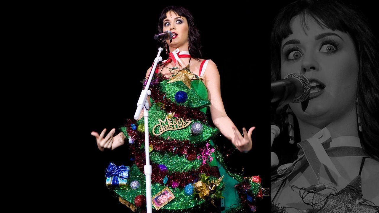 Katy Perry als singender Weihnachtsbaum - Bildquelle: getty-AFP